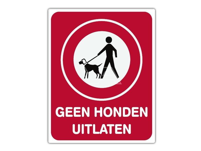 Informatiebord IB05 - Geen honden uitlaten - bord dor lak 20 x 25