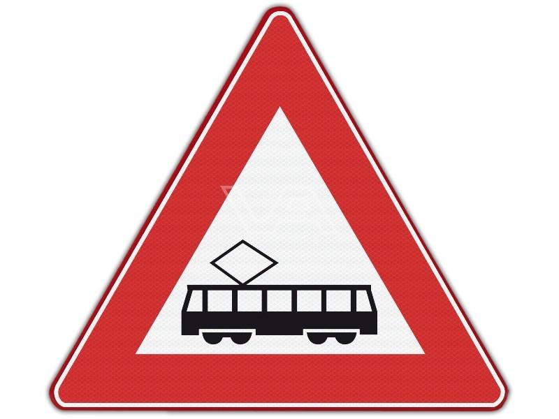 Verkeersbord RVV J14 - Tram(-kruising)