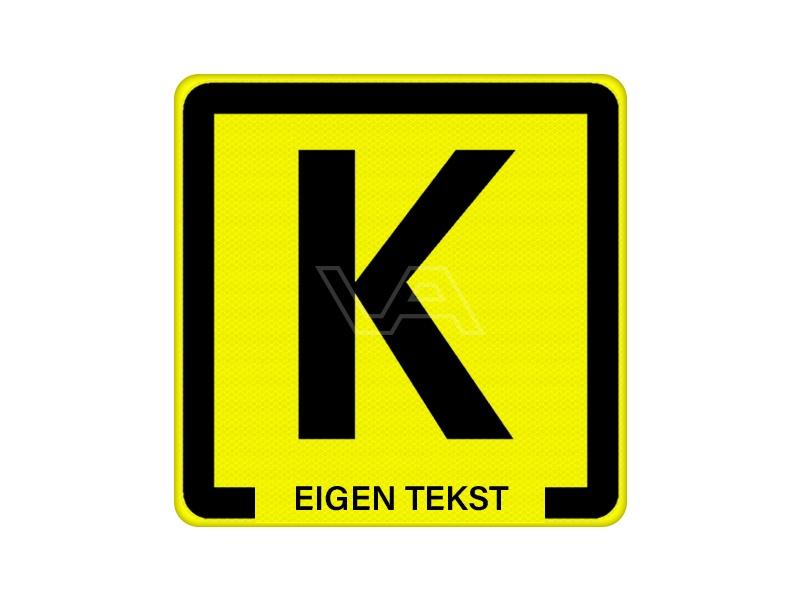 Kabelbord 60 x 60 cm geel klasse 2
