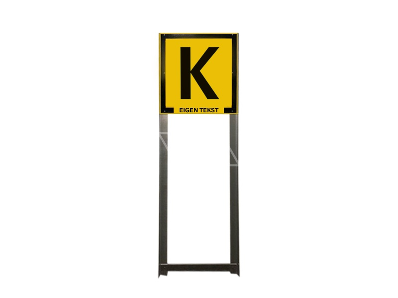 Kabelbordportaal vlak 50 x 50 cm geel vol lak