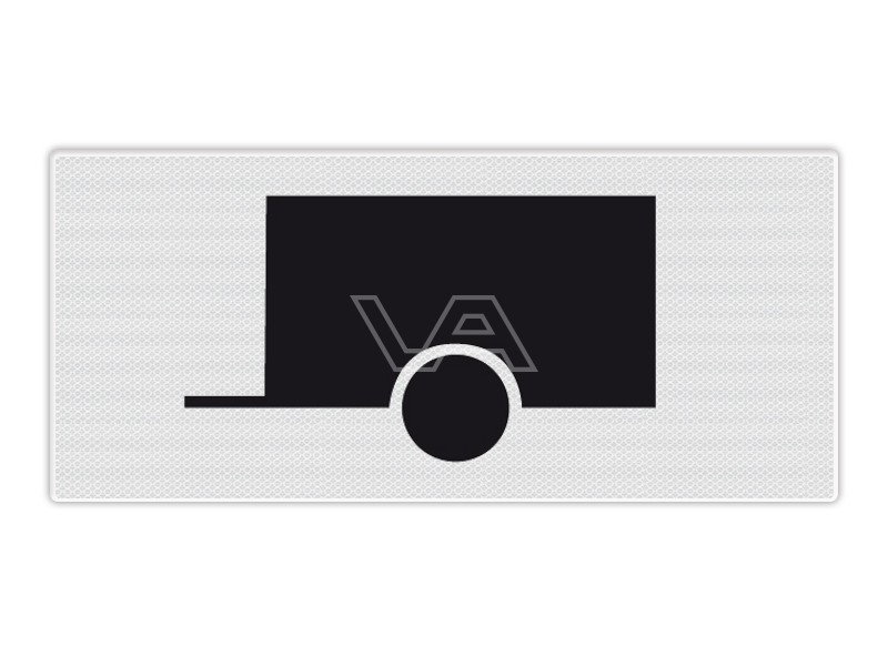 Onderbord RVV OB10 - Aanhangwagens