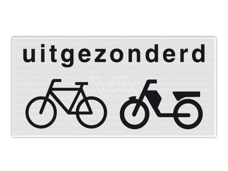 Onderbord RVV OB54 - Uitgezonderd (brom-)fietsers