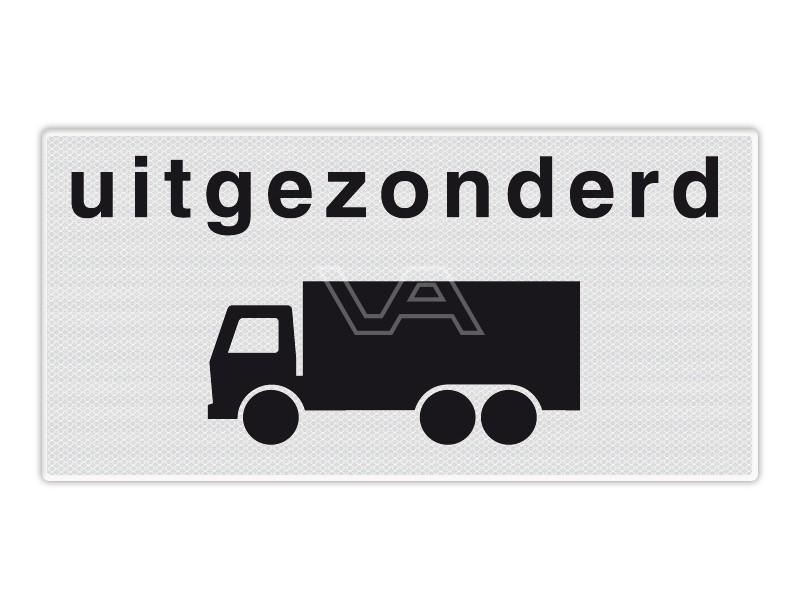 Onderbord RVV OB61 - Uitgezonderd vrachtverkeer