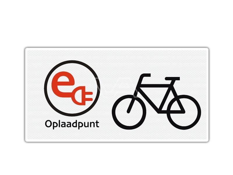 Verkeersbord Opladen elektrische fiets