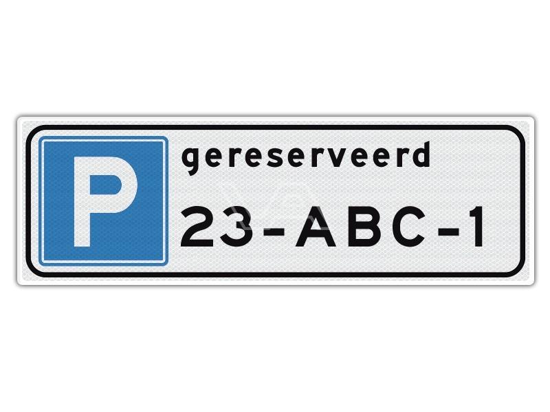 Verkeersbord Parkeerplaats gereserveerd