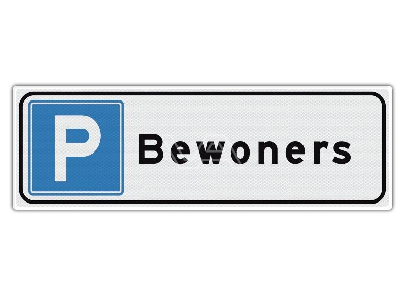 Verkeersbord Parkeren Bewoners