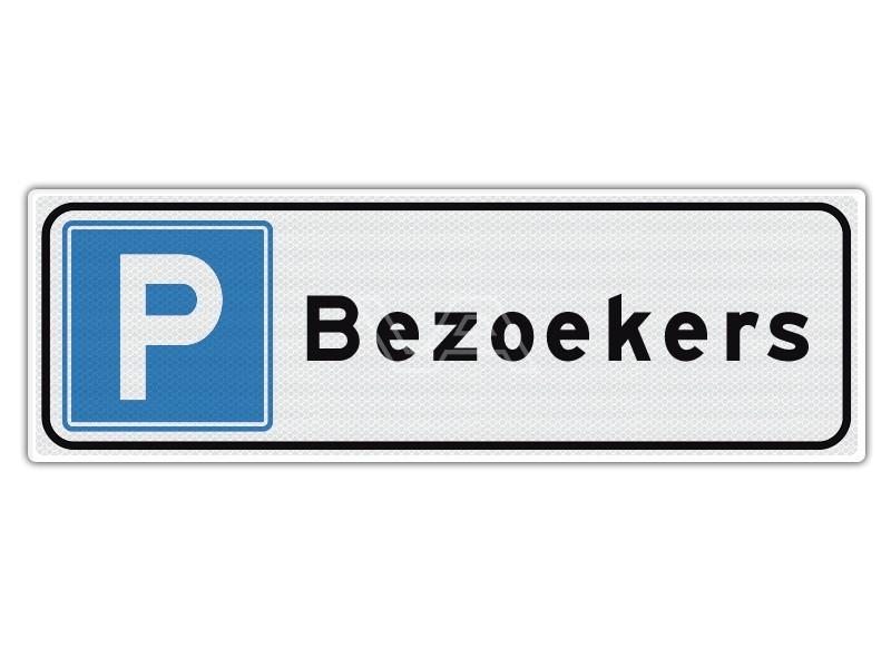 Verkeersbord Parkeren Bezoekers