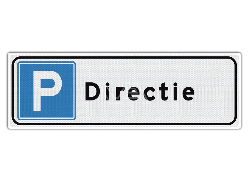 Verkeersbord Parkeren Directie