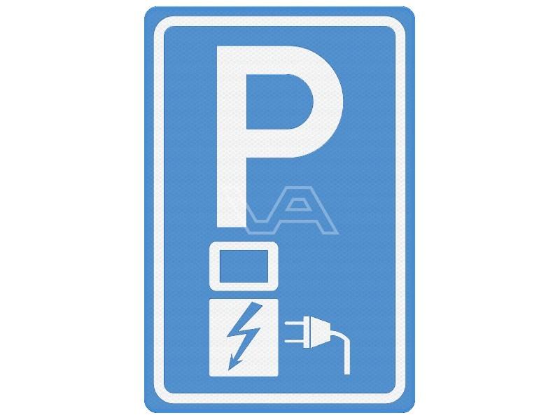 Verkeersbord RVV E08o - Parkeren elektrische auto