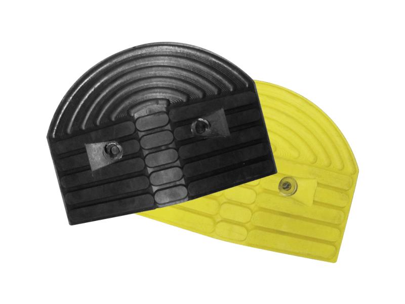 Verkeersdrempel 55mm < 10 km/h eindstuk geel/zwart