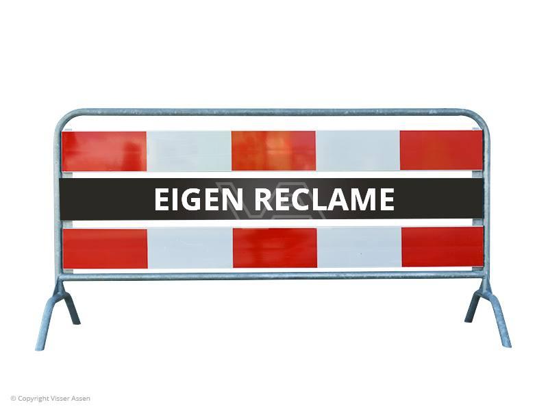 Dranghek reclame rood-wit 2 meter dubbelzijdig