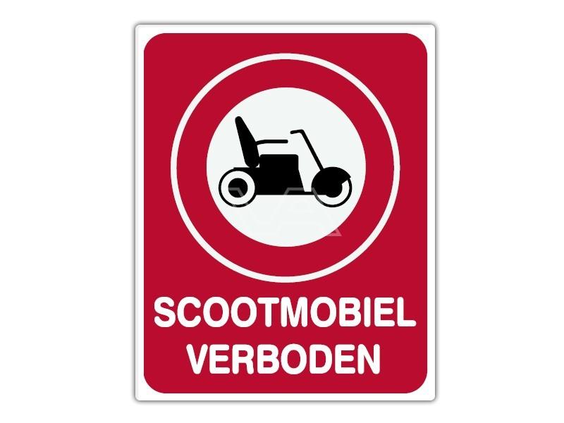 Informatiebord IB17 - Scootmobiel verboden - bord dor lak 20 x 25