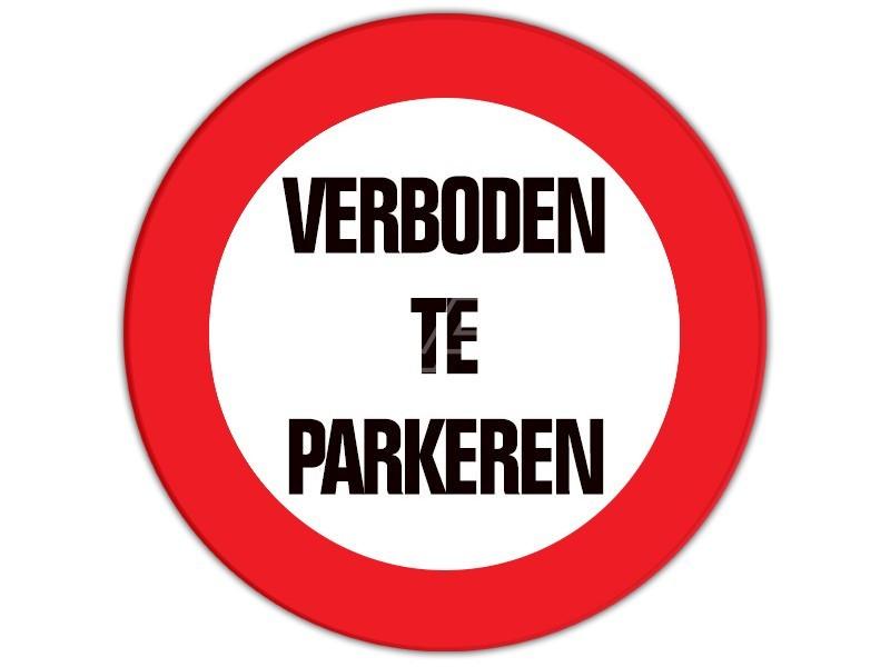 Verkeersbord Verboden te parkeren