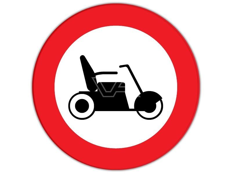 Verboden voor scootmobielen bord Ø 30 cm