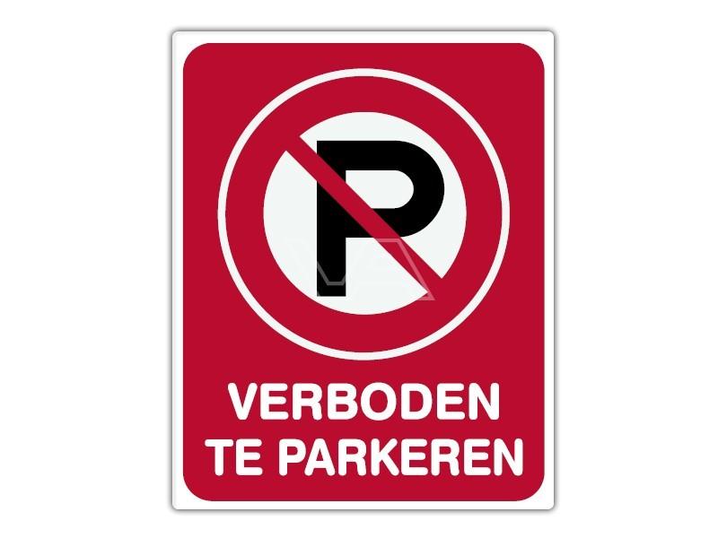 Parkeerbord IB14 - Verboden te parkeren - bord dor lak 20 x 25