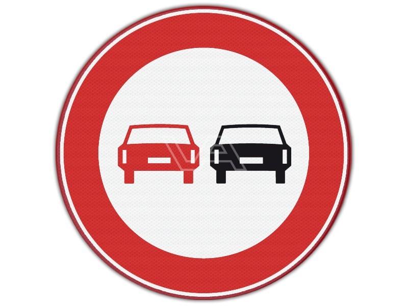 Verkeersbord RVV F01 - Inhaalverbod