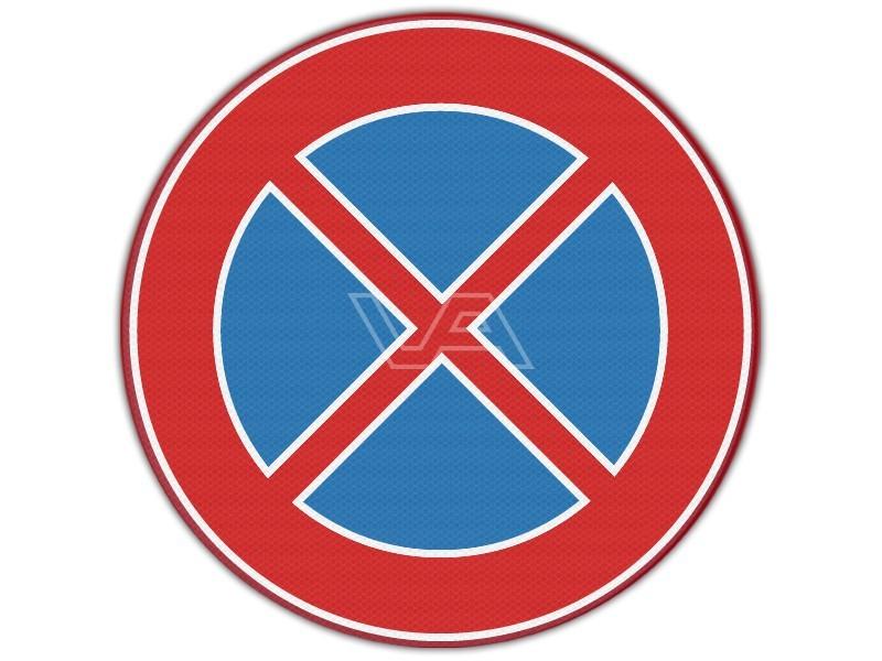 Verkeersbord RVV E02 - Verboden stil te staan