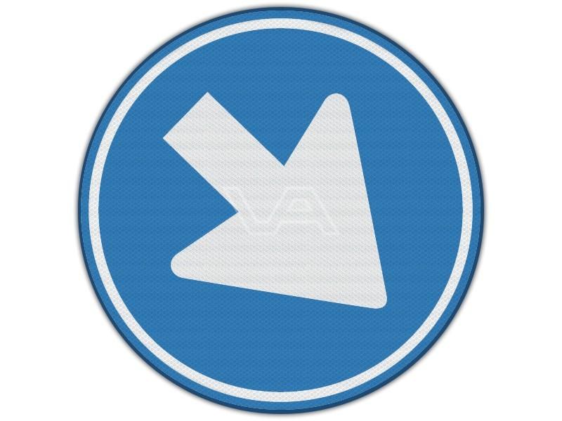 Verkeersbord RVV D02 - Rijrichting