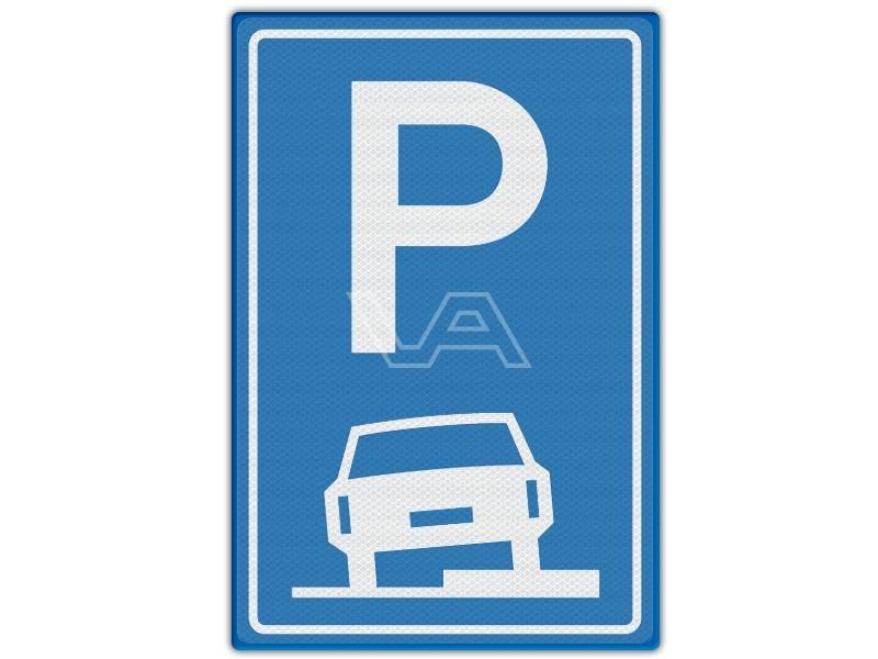 Verkeersbord RVV E08b - Parkeren op stoep toegestaan