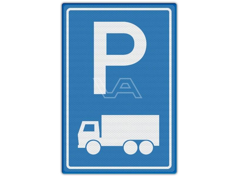 Verkeersbord RVV E08c - Parkeren vrachtwagens