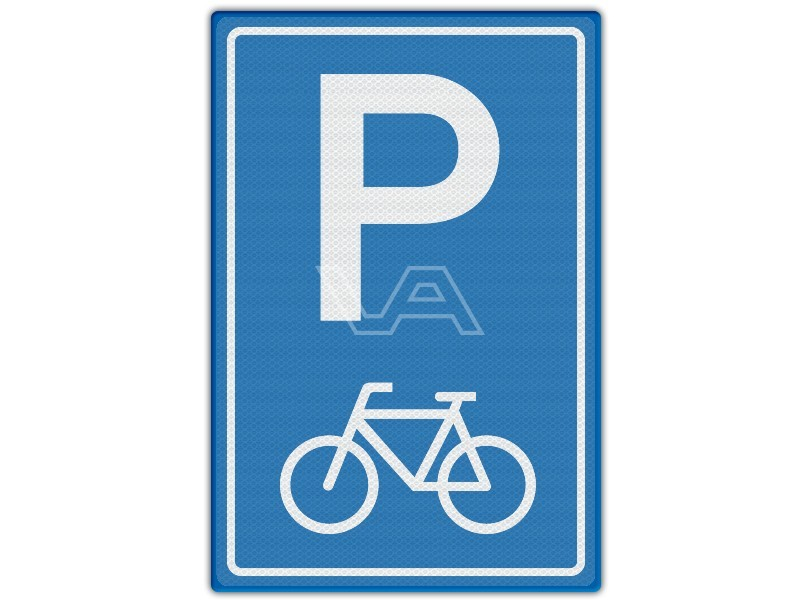 Verkeersbord RVV E08f - Parkeren fietsen