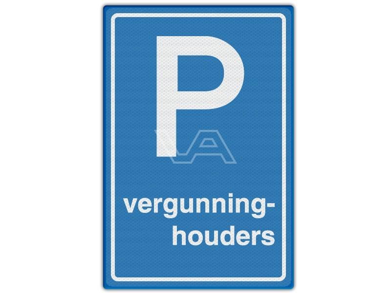 Verkeersbord RVV E09 - Parkeren vergunninghouders