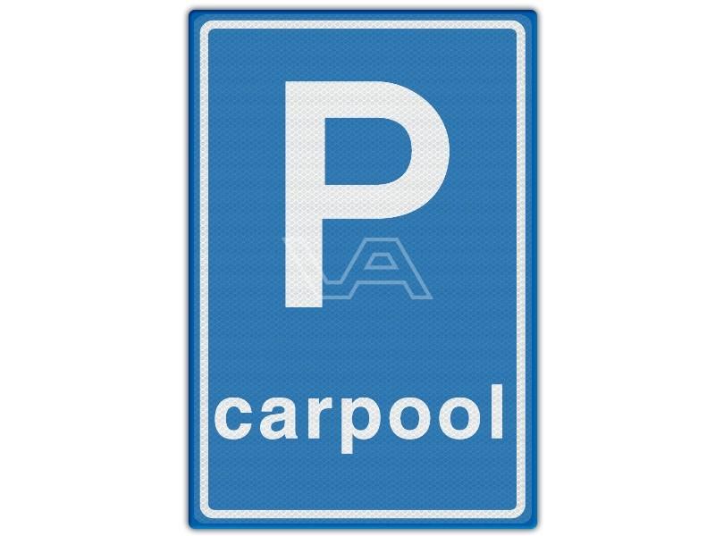 Verkeersbord RVV E13 - Carpoolplaats