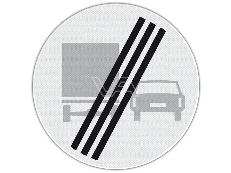 Verkeersbord RVV F04 - Einde inhaalverbod voor vrachtwagens