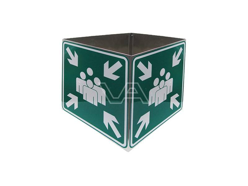 Bord Verzamelplaats kubus vierzijdig 60 x 60 cm