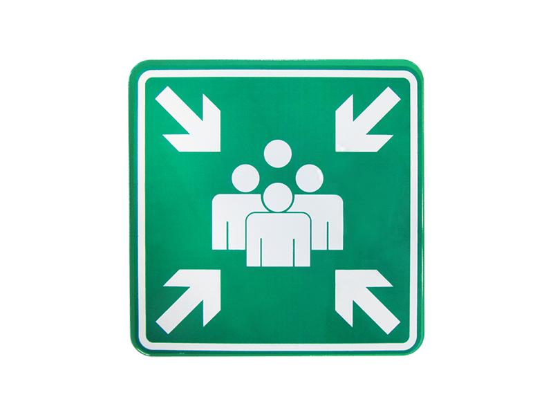 Verkeersbord Verzamelplaats bord 60x60 cm