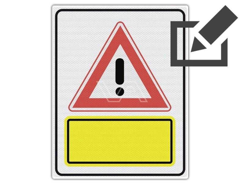 Verkeersbord J37 met aanvullende tekst