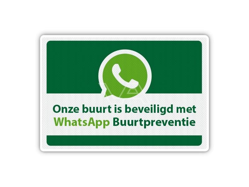 Verkeersbord WhatsApp Buurtpreventie WB04 60 x 40 cm