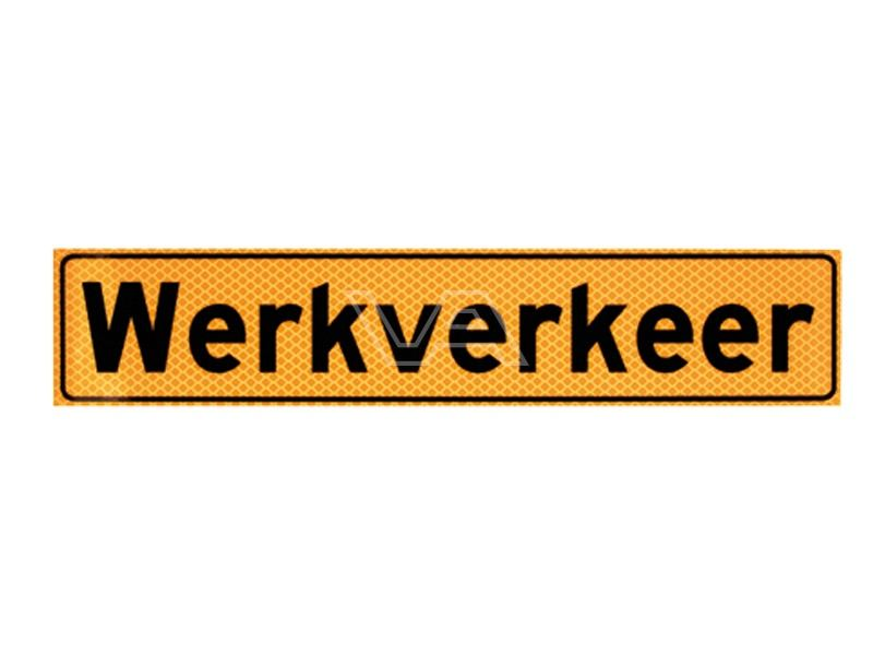 Werkverkeer sticker