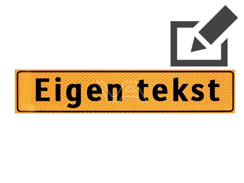Werkverkeer sticker met eigen tekst