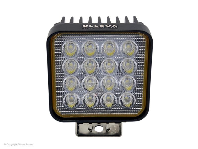 LED-werklamp Ollson vierkant 48 Watt