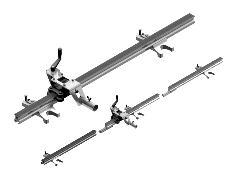 Set geleiderails voor Eibenstock ETR 350